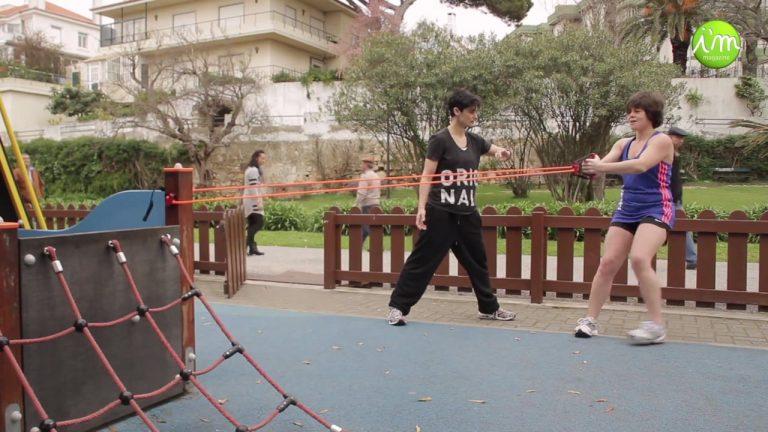 Treino Outdoor Funcional com Maria & Paula, Personal Trainers